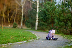 Adorable girl in a park Stock Photography