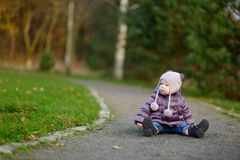 Adorable girl in a park Royalty Free Stock Image