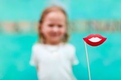 Adorable girl at party Royalty Free Stock Images