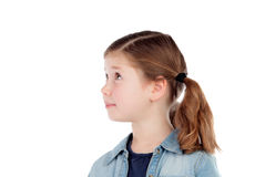 Adorable girl with pigtails looking at side Royalty Free Stock Photography