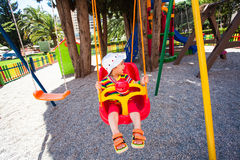 Adorable girl on a playground Royalty Free Stock Photography