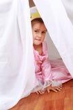 Adorable girl playing Royalty Free Stock Photo