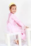 Adorable girl playing Stock Image