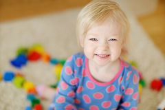 Adorable girl portrait at home Royalty Free Stock Image