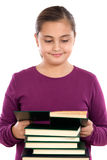 Adorable girl with reading a book Stock Photos
