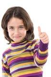Adorable girl saying OK Stock Image
