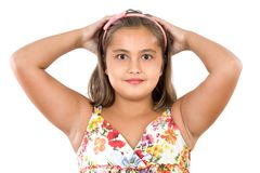 Adorable girl scared Royalty Free Stock Images