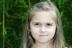 Adorable girl smiling Royalty Free Stock Image