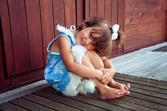 Adorable girl in snowflake costume Royalty Free Stock Images