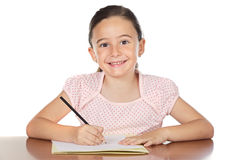 Adorable girl studying Royalty Free Stock Images