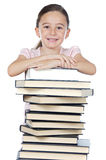 Adorable girl studying Royalty Free Stock Photo