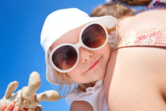 Adorable girl summer funny portrait Royalty Free Stock Image