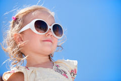 Adorable girl summer portrait Stock Photo