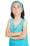 Adorable girl thinking Royalty Free Stock Photos