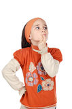 Adorable girl thinking Stock Photography