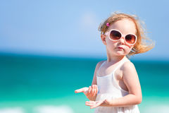 Adorable girl on vacation Royalty Free Stock Photo