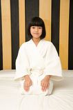 Adorable girl waked up. Royalty Free Stock Photography