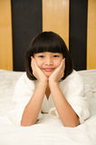 Adorable girl waked up. Royalty Free Stock Images