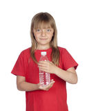 Adorable girl with a water bottle Stock Images