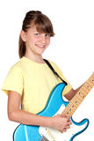 Adorable girl whit electric guitar Royalty Free Stock Photos