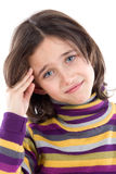 Adorable girl whit headache Royalty Free Stock Photos