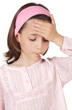 Adorable girl whit thermometer royalty free stock photography
