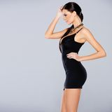 Adorable glamour woman in sexy dress Royalty Free Stock Photography