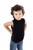 Adorable gotten upset boy Royalty Free Stock Photos