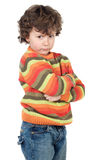 Adorable gotten upset boy Royalty Free Stock Photo