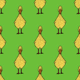 Adorable hand drawn little ducklings pattern vector illustration