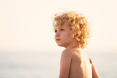 Adorable happy little girl on beach vacation Royalty Free Stock Photo