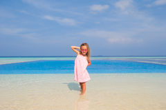 Adorable happy smiling little girl during summer Royalty Free Stock Images