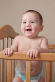 Adorable happy young baby with a lovely smile Royalty Free Stock Photo