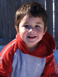 Adorable Hispanic Boy. Darling little hispanic boy in the snow Royalty Free Stock Photos