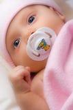 Adorable infant. Adorable infant after a bath stock image