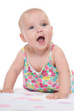 Adorable infant girl Royalty Free Stock Photo