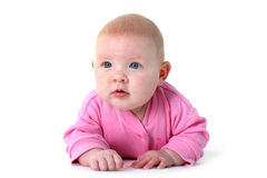 Adorable infant 3 month old with blue eyes Stock Photography