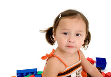 Adorable Japanese American Toddler royalty free stock photos