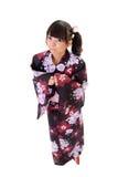 Adorable japanese gir Stock Photo