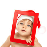 Adorable kid celebrate Christmas Royalty Free Stock Image