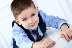 Adorable kid in costume Royalty Free Stock Photo