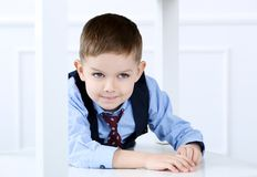 Adorable kid in costume Royalty Free Stock Images