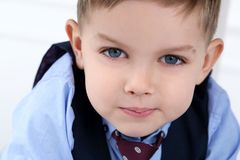 Adorable kid in costume Royalty Free Stock Photography