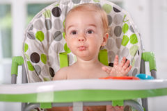 Adorable kid eating watermelon Royalty Free Stock Image