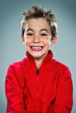 Adorable Kid with Funny Expression Royalty Free Stock Photography