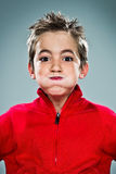 Adorable Kid with Funny Expression Royalty Free Stock Image