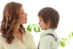 Adorable kid and mother Stock Photography