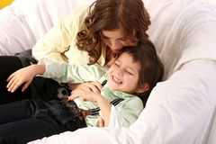 Adorable kid and mother Stock Photos