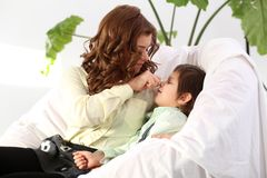Adorable kid and mother Royalty Free Stock Photography