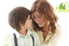 Adorable kid and mother Stock Images